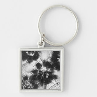 NA, USA, New York, New York City. Palm trees in Silver-Colored Square Keychain