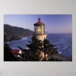 NA, USA, Oregon, Heceta Head Lighthouse, Poster