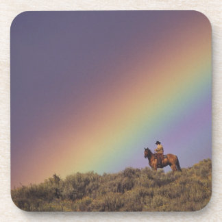 NA, USA, Oregon, Seneca, Ponderosa Ranch, Beverage Coaster