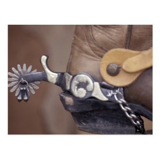NA, USA, Texas, Lubbock Cowboy boot and spur Postcard