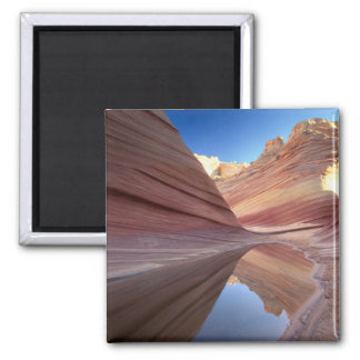 NA, USA, Utah, Vermillion Cliffs. Coyote Butte 2 Square Magnet