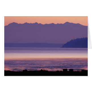 NA, USA, Washington, Conway. Olympic Mountains Card