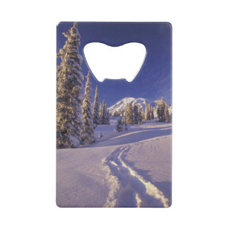 NA, USA, Washington, Mt. Rainier NP, Snowshoe Credit Card Bottle Opener
