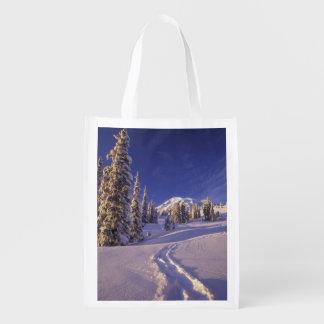 NA, USA, Washington, Mt. Rainier NP, Snowshoe Reusable Grocery Bag