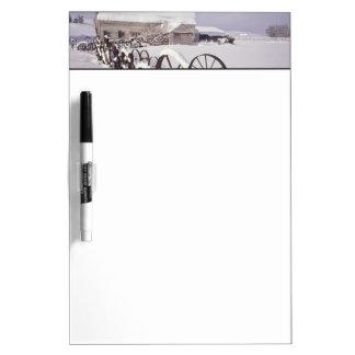 NA, USA, Washington, Uniontown, White barn and Dry-Erase Board