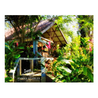 Nabitunich Stone Cottages Belize post card