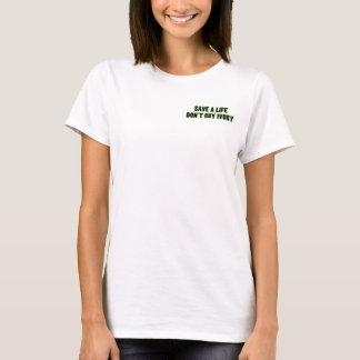 N'achetez pas l'ivoire, sauvent la chemise de la t-shirt