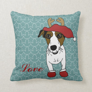 Nacho the Jack Russell Terrier Throw Pillow