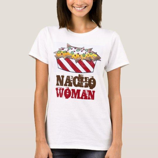 Nacho Woman Cheese Nachos Funny Snack Food Tee