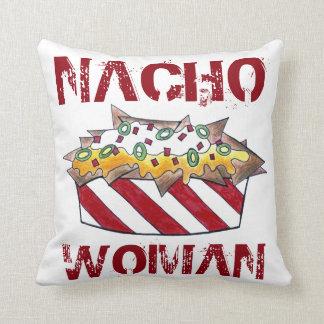 Nacho Woman Funny Foodie Feminist Nachos Pillow