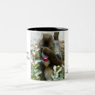 Nada-Monkey #61 Two-Tone Coffee Mug