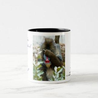 Nada-Monkey #91 Two-Tone Coffee Mug