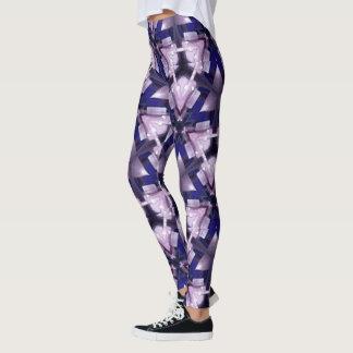 Nada Nuff Triangles - Purple Blue Leggings