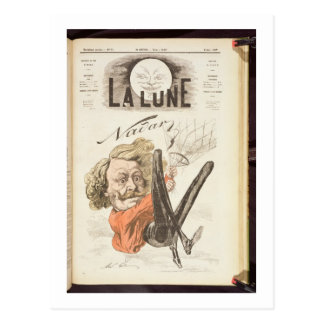 Nadar (1820-1910) title page of 'La Lune', publish Postcard