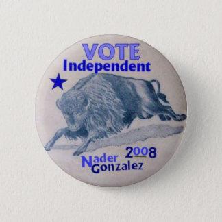 Nader/Gonzalez 2008 Buffalo Button