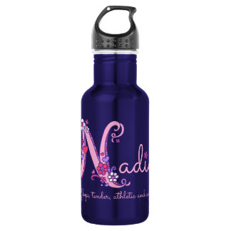 Nadia girls name and meaning letter N water bottle