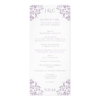 Nadine Wedding Program - Tea-length -Lavender