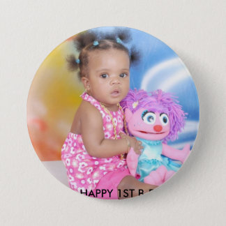 NAELANI'S 1ST BIRTHDAY! 3 INCH ROUND BUTTON