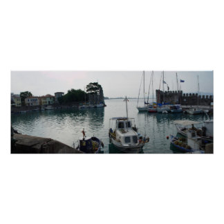 Nafpaktos' harbor poster