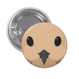 nagekibato - Mourning dove 1 Inch Round Button