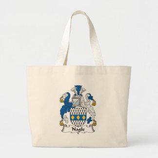 Nagle Family Crest Jumbo Tote Bag