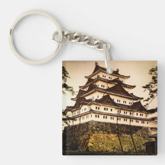 Nagoya Castle in Ancient Japan Vintage 名古屋城 Single-Sided Square Acrylic Keychain