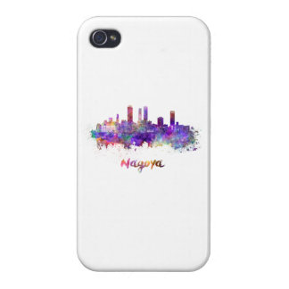 Nagoya skyline in watercolor iPhone 4/4S cover