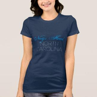 Nags Head North Carolina Blue and Black custom T-Shirt