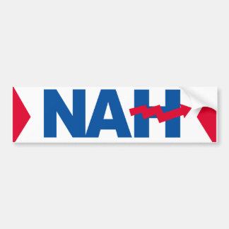 Nah Hillary - Crooked H -- -  Bumper Sticker