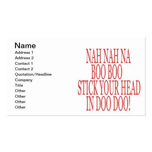 Nah Nah Business Cards