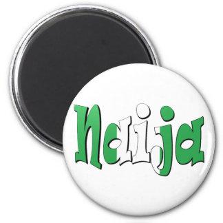 Naija (Nigerian Flag) 2 Inch Round Magnet