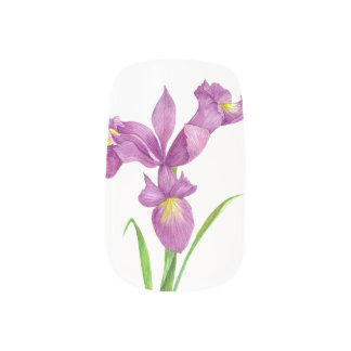 Nail Art Purple Iris Vintage