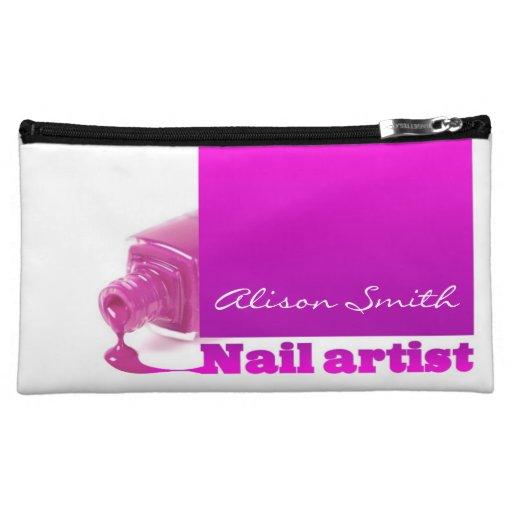 Nail artist makeup bags