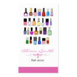 Nail artist plantilla de tarjeta de negocio