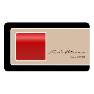 Nail Artist - red nail Business Card