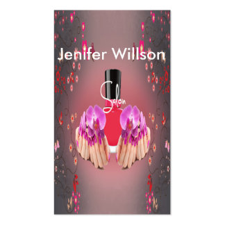 Nail Artist Salon Business Card