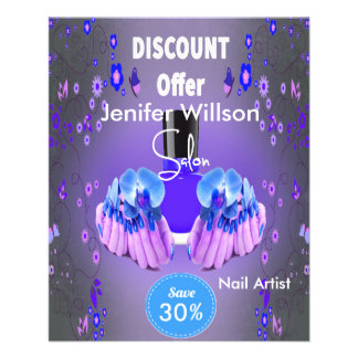 Nail Artist Salon Flyer Design