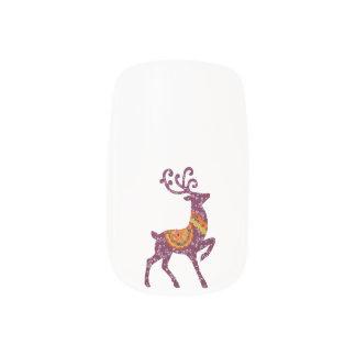 Nail Design deer Christmas deer annuitant Minx Nail Art