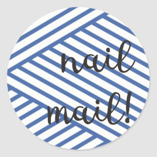Nail Mail! Sticker - blue lines