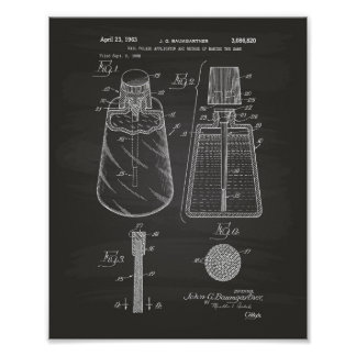 Nail Polish Applicator 1963 Patent Art Chalkboard Poster