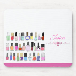 Nail polish bottles mouse pad