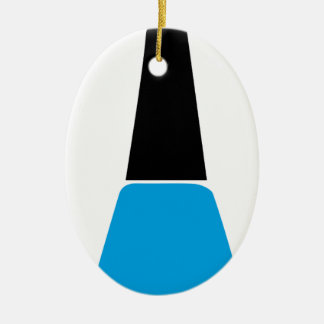 Nail polish ceramic ornament