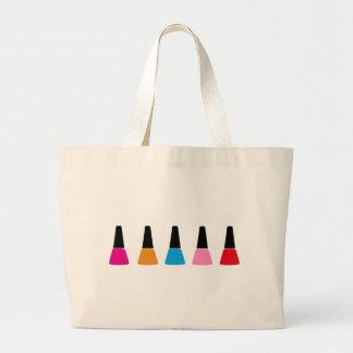 Nail polish large tote bag