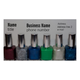 Nail Polish Pack Of Standard Business Cards