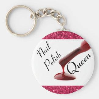 Nail Polish Queen Key Chain