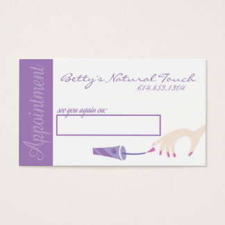 Nail Salon Appointment Cards