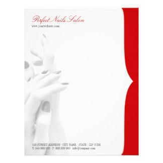 Nail Salon Beauty Center business letterhead