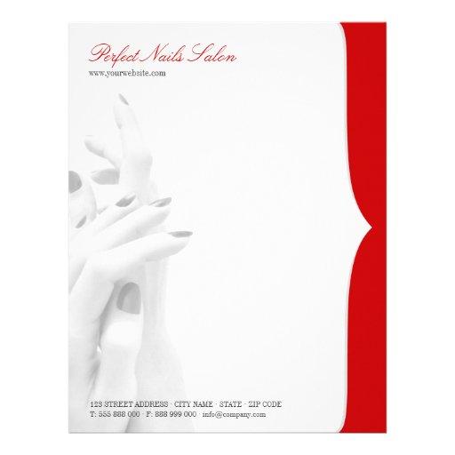 Nail Salon Beauty Centre Business Letterhead