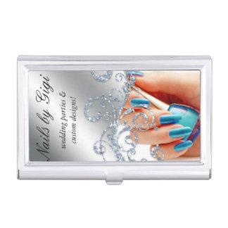 Nail Salon Cosmetologist Cosmetology Polish Business Card Holder