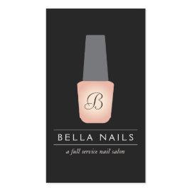 Nail Salon Monogram on Peach Nail Polish